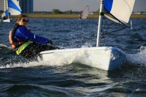 Ali sailing a Q'Ba
